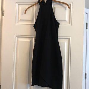 Black wrap dress • S
